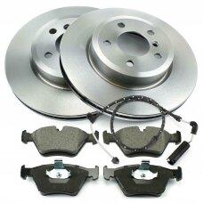 BMW X3 (E83) (2004 - 2011) stabdžių diskai + kaladėlės (priekis)