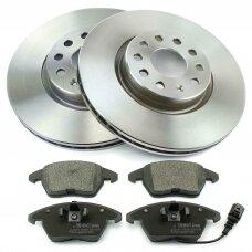 VW EOS (2001 - 2021) stabdžių diskai + kaladėlės (priekis)